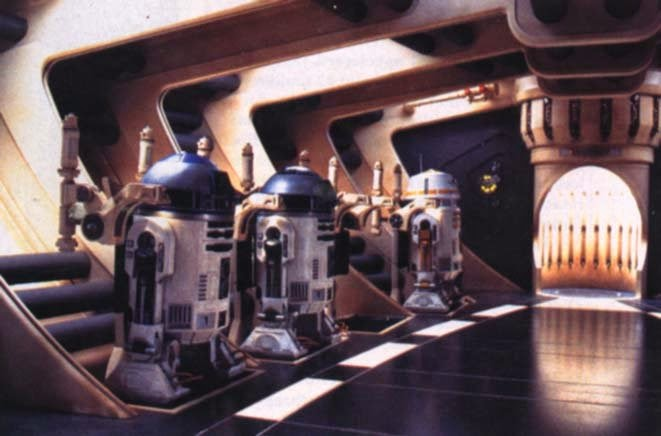 Nubian Starship Droid Bay