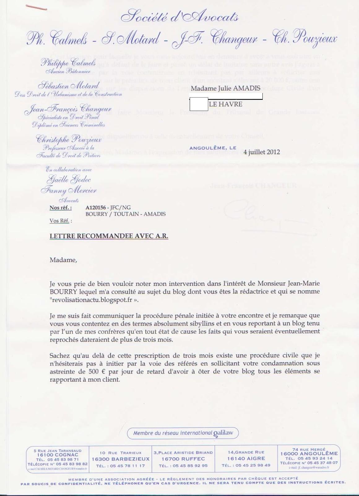 Revolisation Actu Revactu En Juillet Jean Marie Bourry Cote D