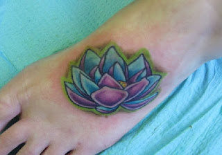 flower foot tattoos