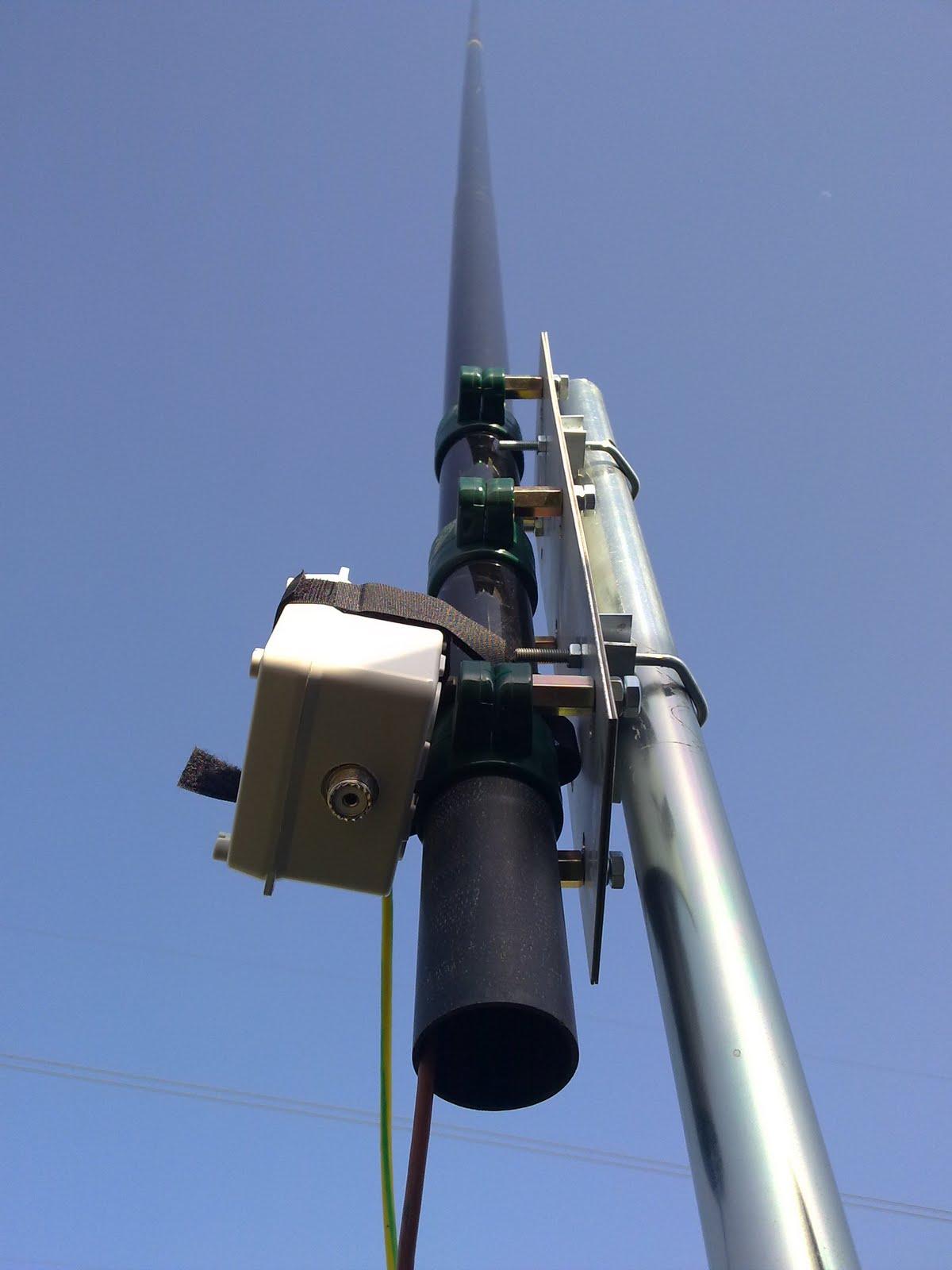 Ea2cmg radioafici n probando el soporte para la antena - Soporte para antena ...
