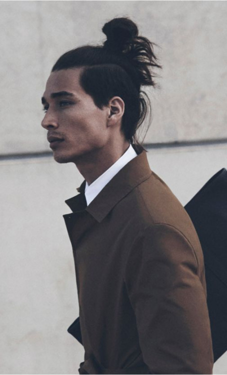 Beautiful Half Ponytail Hairstyle For Men In 2015 Best Haircuts