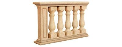 Balaustra divisorio con parapetto di scalinate terrazze ecc.