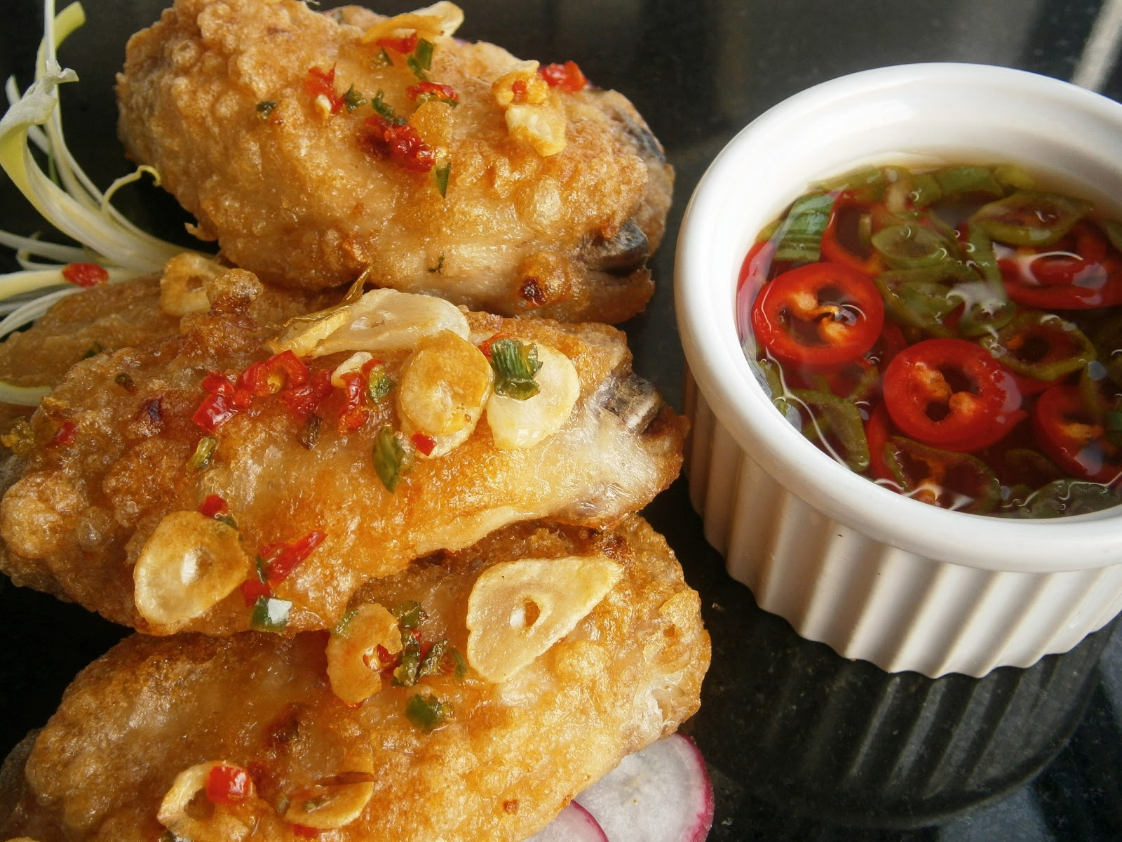 Chinese Five-Spice Chicken Wings with Creamy Cilantro Sauce Recipe