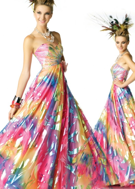 Strapless Evening Long Colouring Dress Collection!