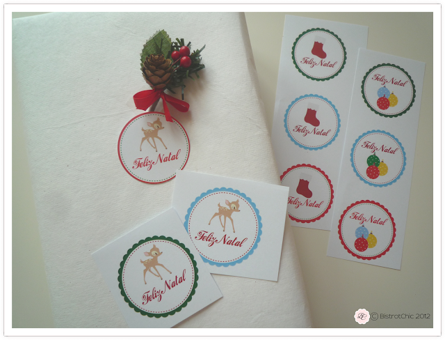 Free children christmas gift labels from BistrotChic