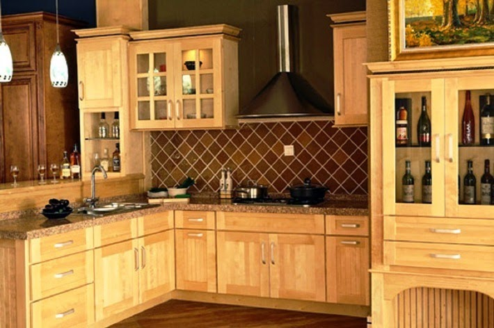wall color ideas for kitchen with brown cabinets