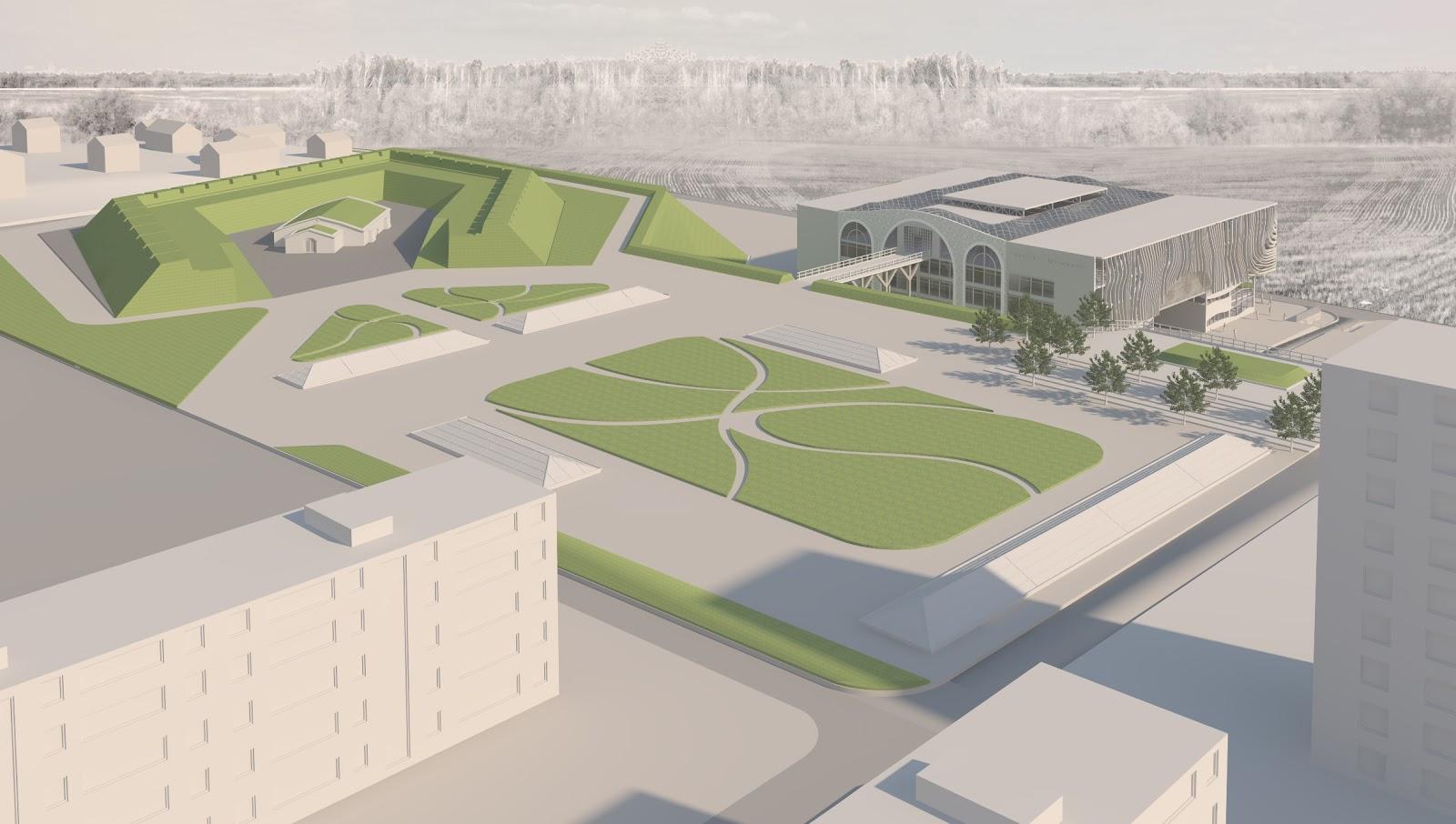 Проектирование зданий и сооружений визуализация Дипломный проект  Дипломный проект Республиканский музейный комплекс на территории Тираспольской крепости