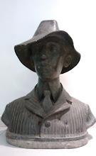 Busto de Santos=Dumont (Praça 14-Bis) ITAPEMA/SP