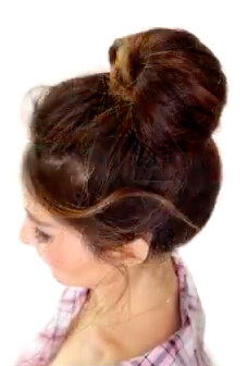 The 2 Minute Bubble Bun Hairstyle Tutorial