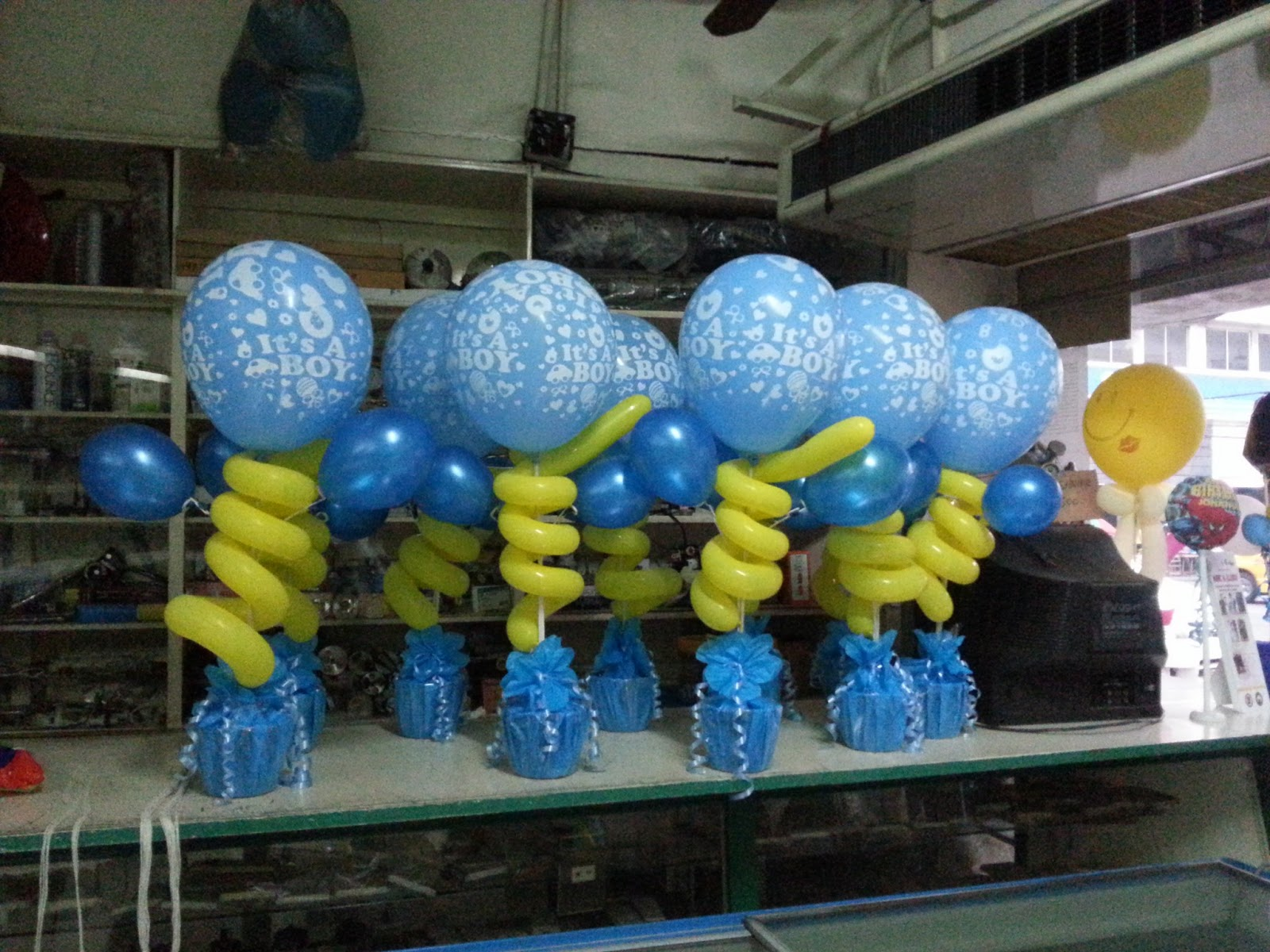 Balloons by dioneli for Balloon decoration ideas for christening