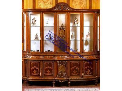 Jual mebel jepara,kabinet klasik,kabinet kaca klasik jepara,furniture classic mewah jepara,mebel klasik jepara,code kabinet ukir 0116