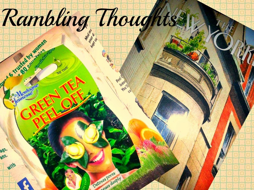Rambling Thoughts, Montagne Jeunesse, New Yorker, Magazine, Mail, Coupons, Free