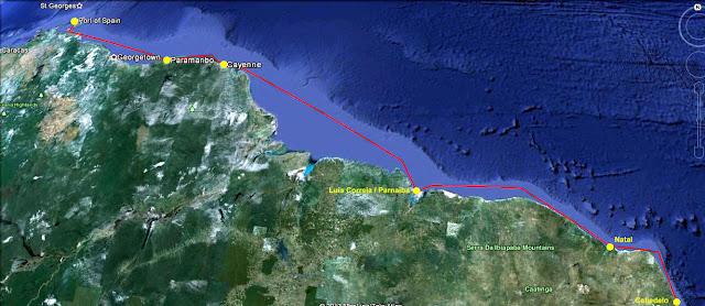 Brazil French Guyana Suriname Trinidad