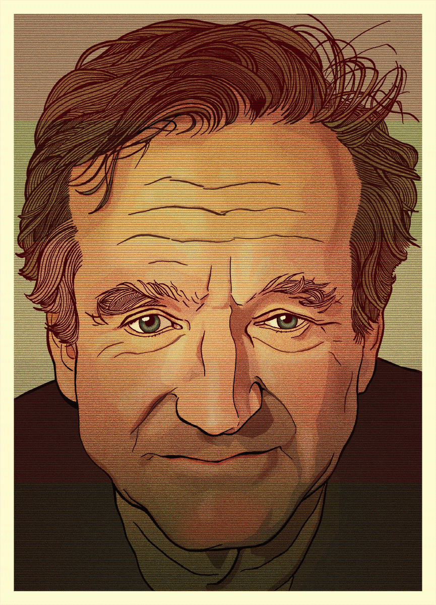Robin Williams Illustration portrait