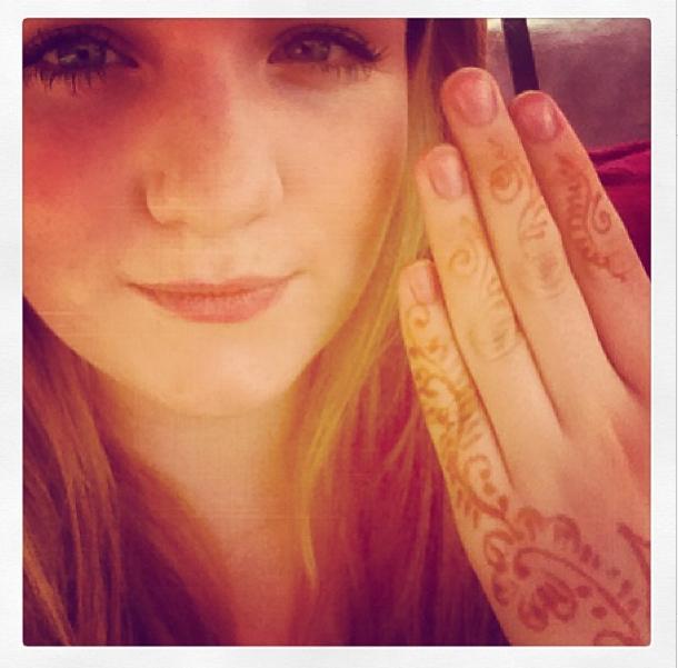 Me with Henna tattoo