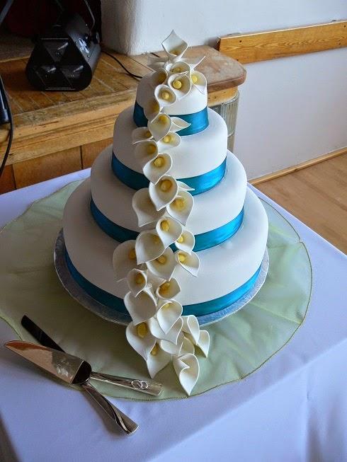 Ultimately Chocolate CAKES Calla Lily Wedding Cake - Calla Lilly Wedding Cake