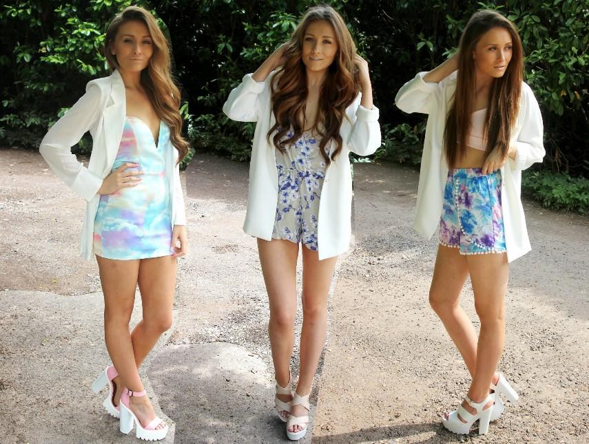 white longline blazer outfits
