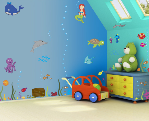 Kids Bedroom Wall Painting Ideas - 5 Small Interior Ideas