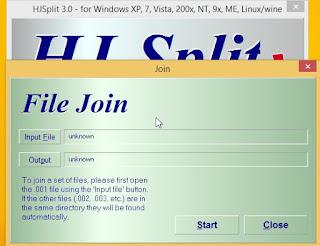 Cara Menggabungkan File Berekstensi 001 , 002 , 003 dan Seterusnya Dengan Hjsplit