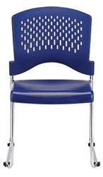 Aire Series Blue Stacking Guest Chair