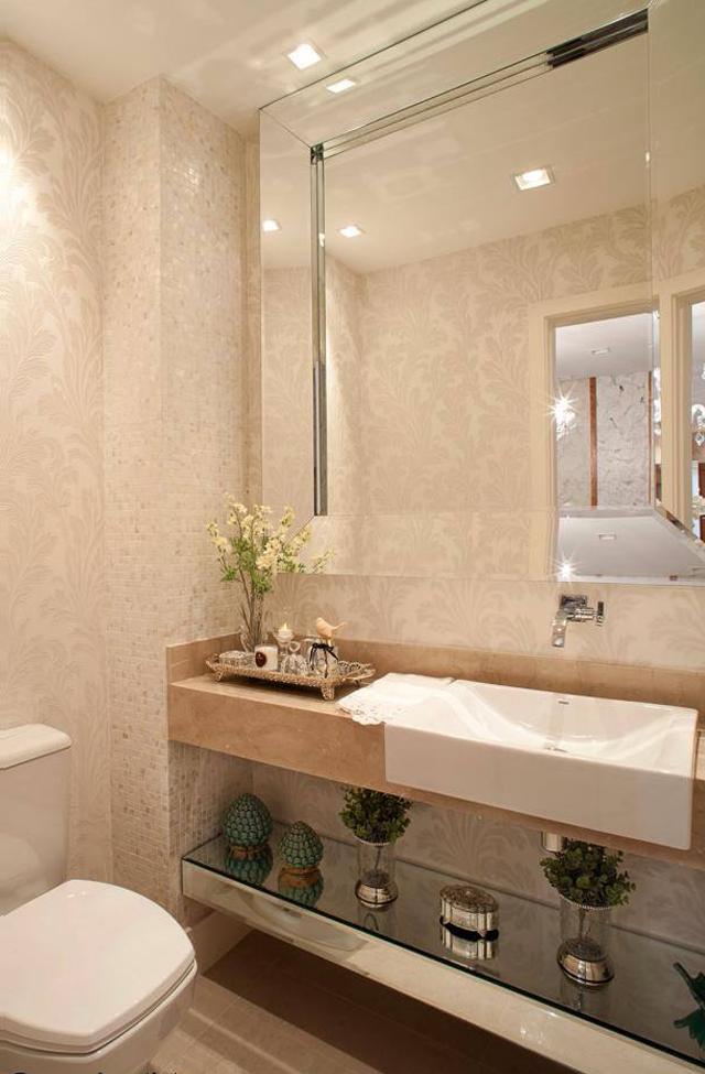 Apartamento com decoração clássica e contemporânea neutra chiquérrimo!  Deco -> Pia Banheiro Apartamento
