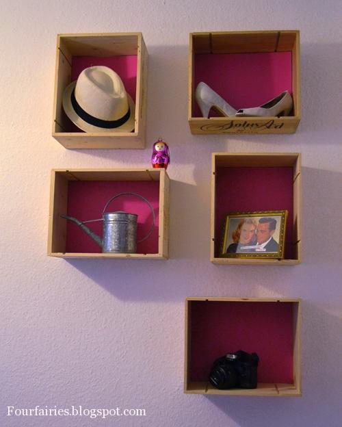 fourfairies diy weinkisten wandregal. Black Bedroom Furniture Sets. Home Design Ideas