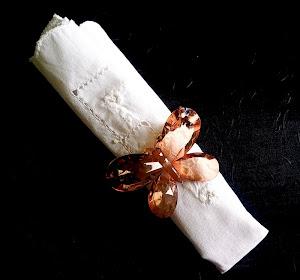 anel de guardanapo borboleta