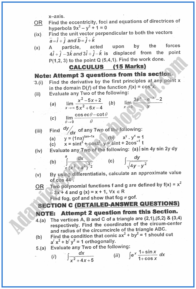 Mathematics-2012-past-year-paper-class-XII