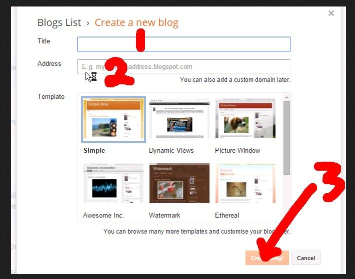 Langkah Membuat Blog Gratis Di blogger