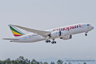 Ethiopian Airlines Boeing 787-8 ET-AOQ Delivery Flight Boeing image