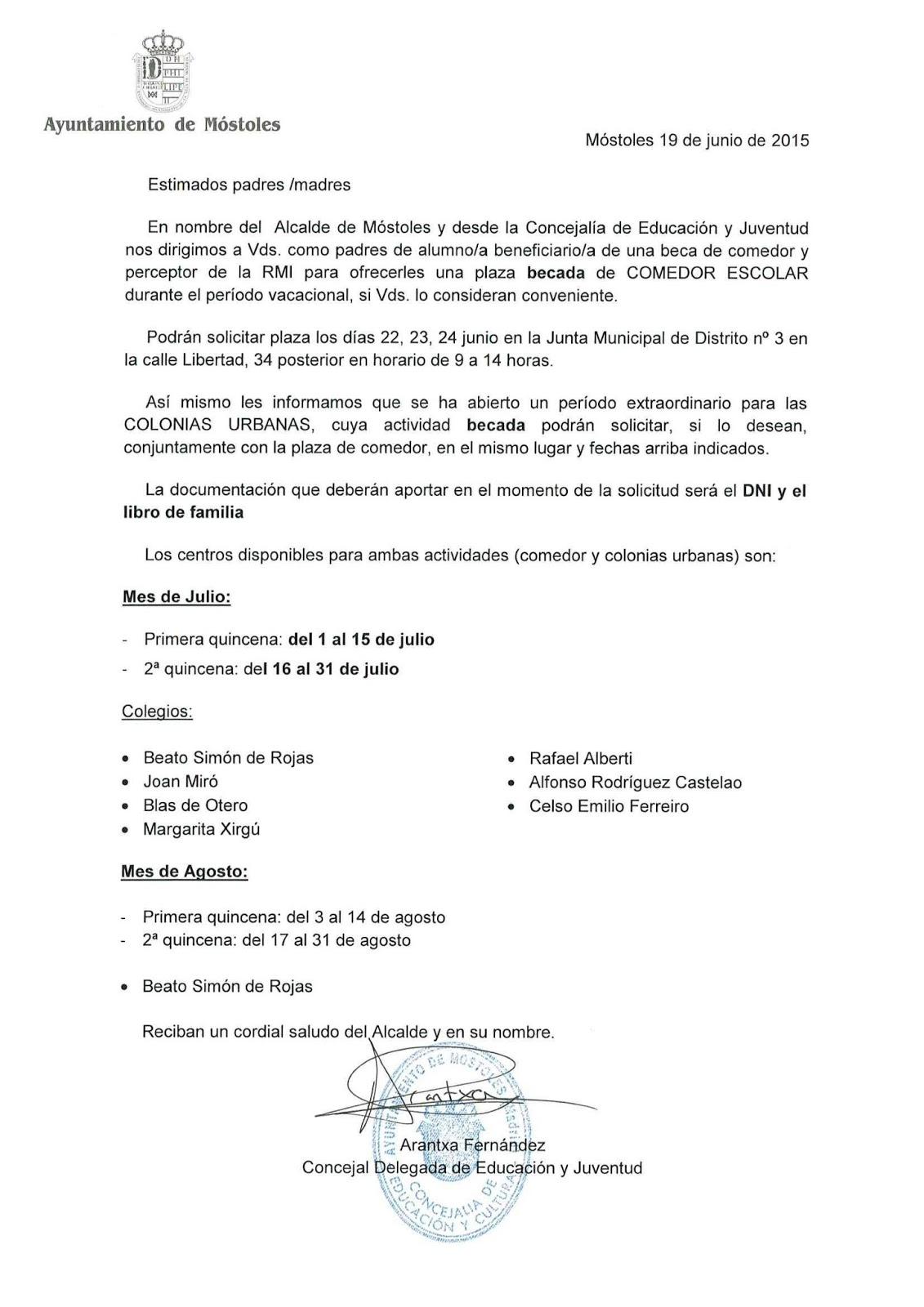 Ampa Severo Ochoa Móstoles: EL AYUNTAMIENTO DE MÓSTOLES OFRECE BECAS ...
