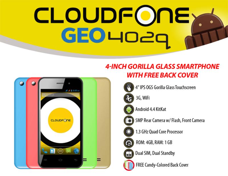 CloudFone 402q 999 Pesos