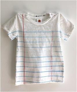Camiseta com pauta