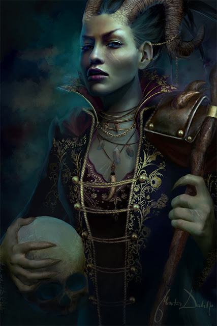 gothic graphics - fantasy illustrations women