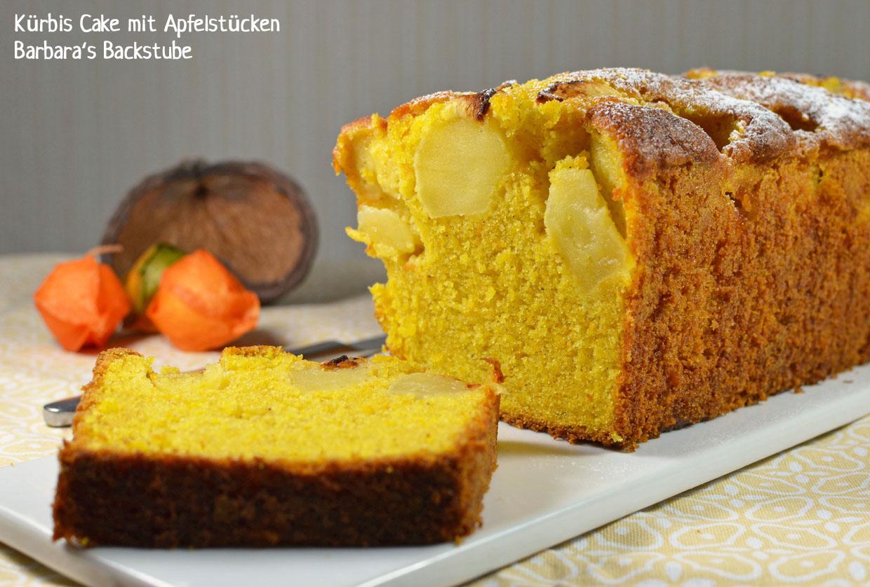 Kürbis Cake mit Apfelstücken