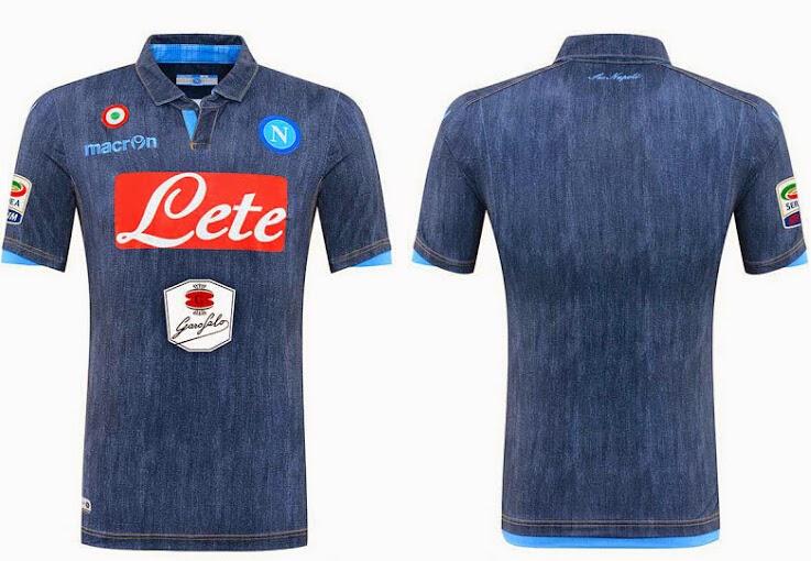 La tercera camiseta del napoli 2014-2015 se basa en la misma plantilla que  la camisas de futbol en casa con los colores del kit invertidos. ee7bcbc78a09e