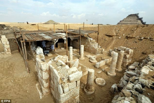 The tomb (pictured) was found near another one dating back to the same period belonging to the head of the army that was discovered in the previous excavation season
