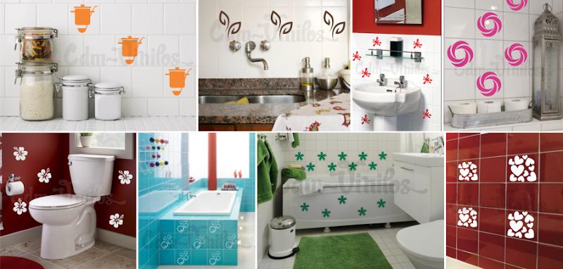 Pack de vinilos decorativos para azulejos de cocinas y - Vinilos para azulejos de cocina ...