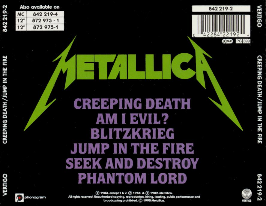Metallica Creeping Death