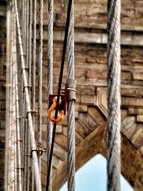 Cable Close Up, Brooklyn Bridge, New York, NY,  #brooklynbridge