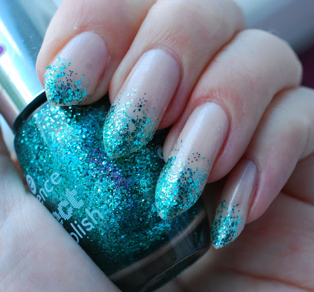 bones and lilies teal glitter