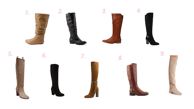Choices of knee length boots for fall