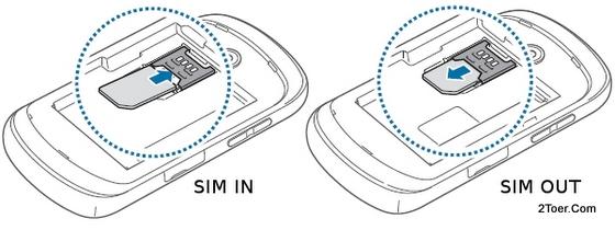 Insert Install Remove SIM Card Samsung Galaxy Music GT S6010
