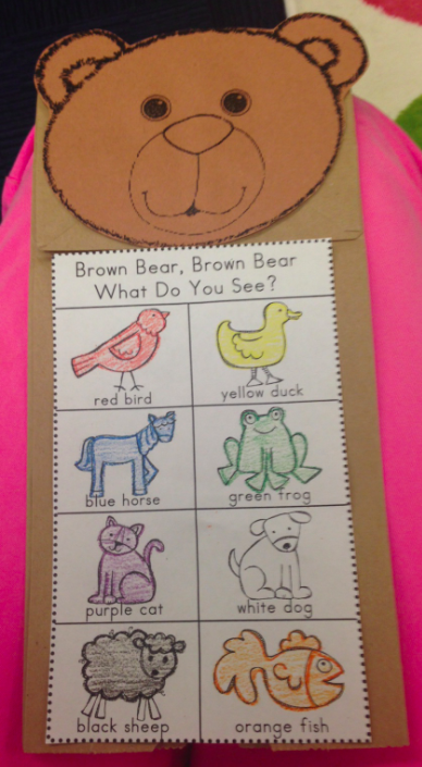 Preschool wonders color my world for Brown paper bag crafts for preschoolers