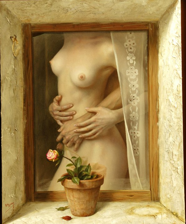 Alex Alemany 1943 | Hyperrealist and Symbolist painter