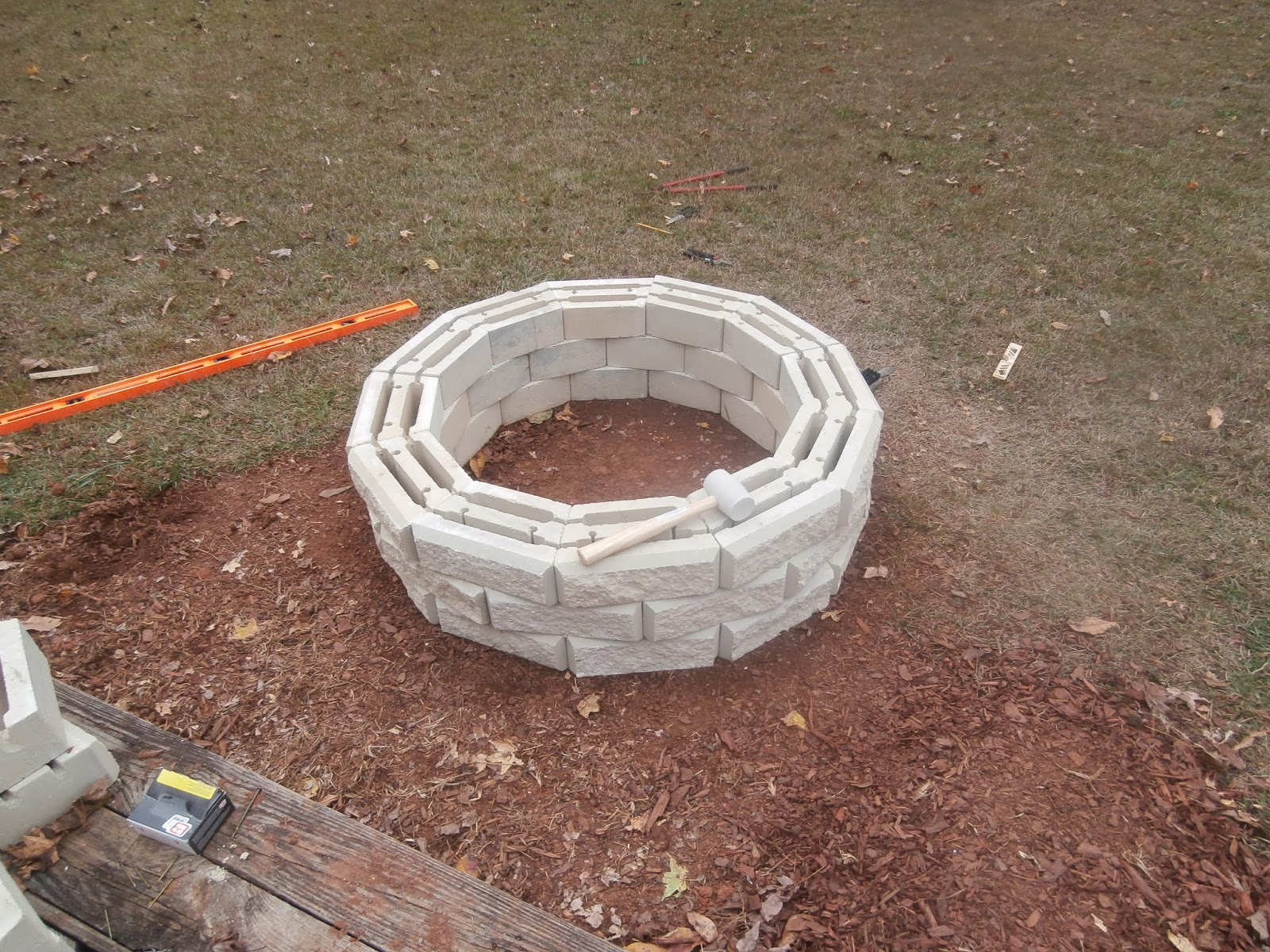 used masonry cement to hold them together