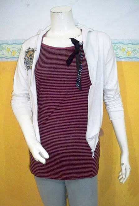 CB 197 UY Rp.59.000,- (2 pcs Sweater & Tank Top.j