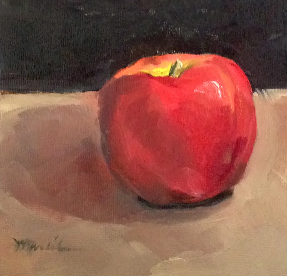 Painting by the Lake: An Apple a Day