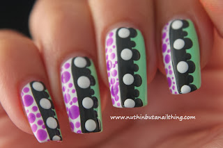Polka dot nail art tutorial