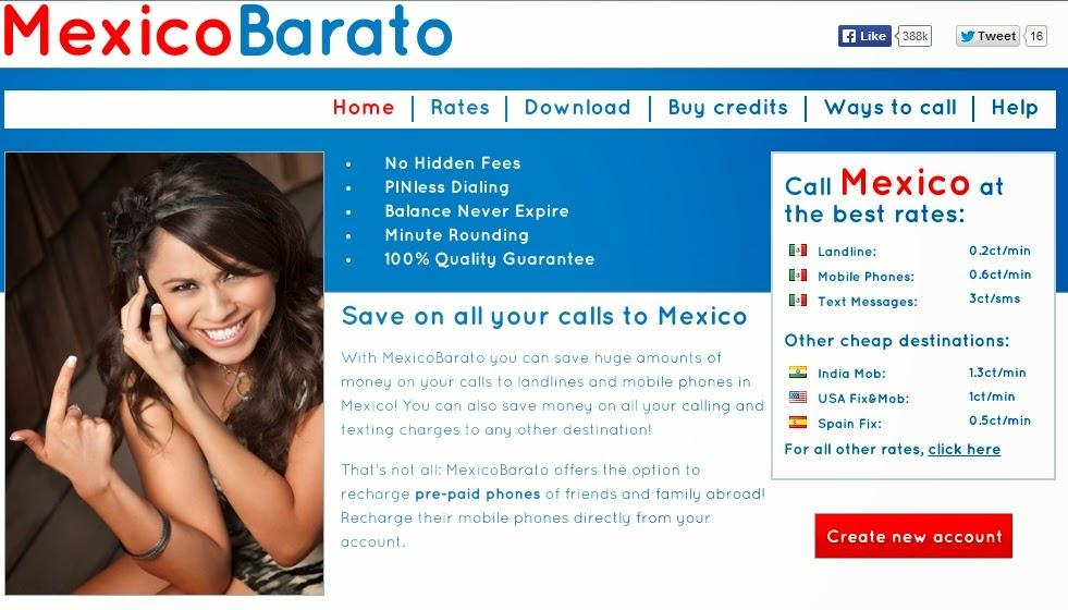 Llamar a Mexico Gratis con Mexicobarato